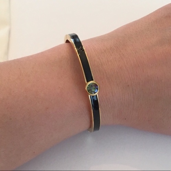 kate spade Jewelry - KATE SPADE Forever Gems Black Gold Bangle Bracelet